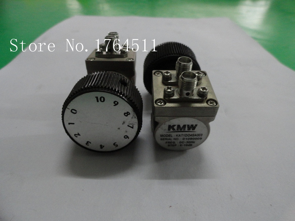 [BELLA] Hand Adjustable Step Attenuator KMW KAT1D04SA003 10dB DC-3GHz SMA  --2PCS/LOT