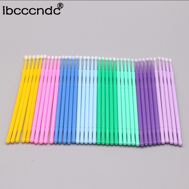 100PCS/Pack Disposable Makeup Brushes Swab Microbrushes Eyelash Extension Tools Individual Lash Removing Tools Cotton Swab цена