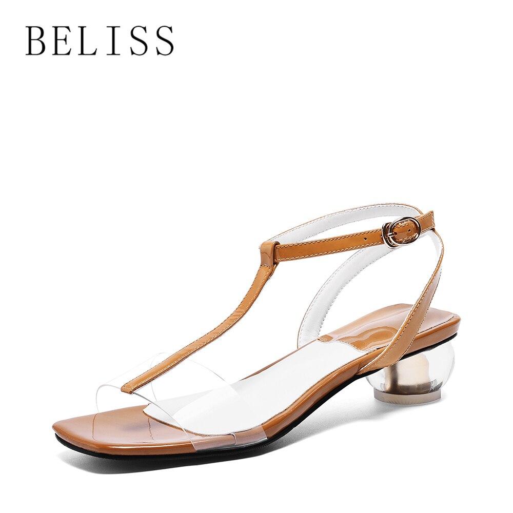 S26 Talon Beliss Chaussures Khaki Mode Transparent Sexy White 0PkwnO