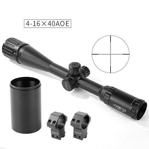 atirador tatico st 4 16x40aoe hunter rifle scope cor preta para caca tiro com tampa