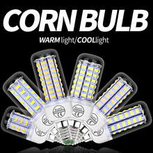 E27 LED Bulb 3W 220V Corn Lamp E14 Smart Light GU10 5W 5730 SMD 24 36 48 56 69 72leds Lights For Home