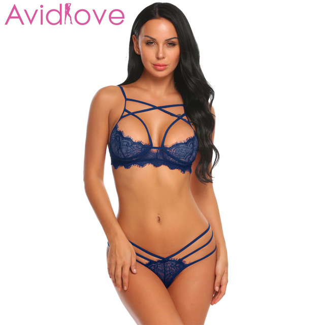 Avidlove Open Bra Crotch Erotic Lingerie Set Lace Nightgowns Sexy Bra Panty Womans Lingerie And Exotic Bra Sets Sex Products 1