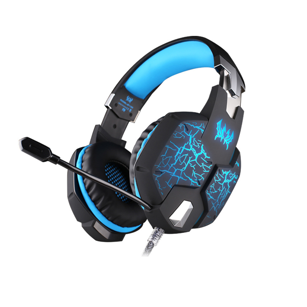 EACH G1100 Pro Vibration Function Gaming Headset Wired Stereo Bass Surround Headphone With Mic LED Light for PC Gamer each g1100 shake e sports gaming mic led light headset headphone casque with 7 1 heavy bass surround sound for pc gamer