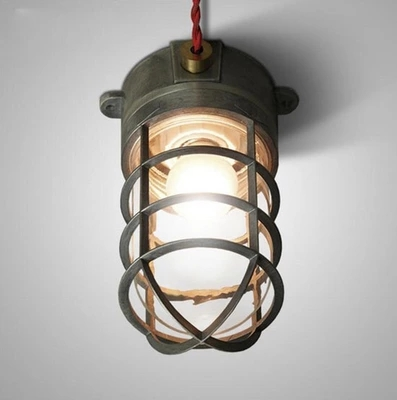 Lamp american vintage personality bathroom explosion-proof ceiling light