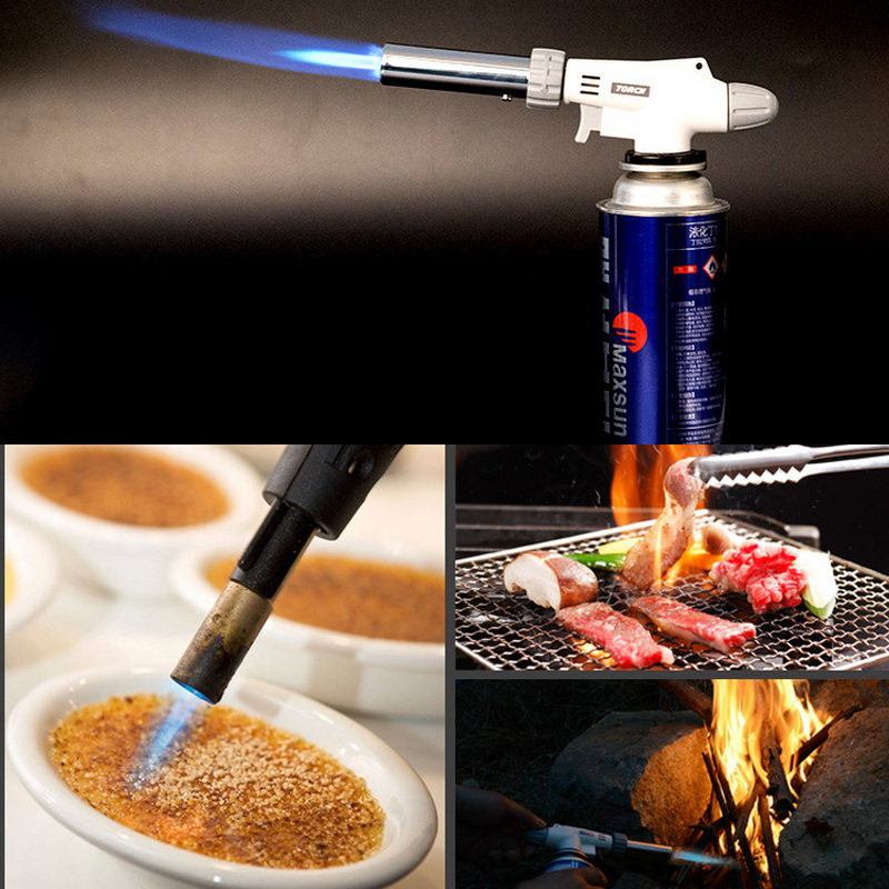 Cooking  Culinary Butane   Gas Ignition Lighter Head With Adjustable Flame for Home Cooking and Professional Use