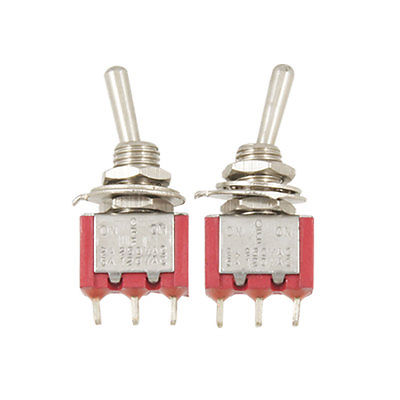 цена на 5 Pcs 3 Pins SPDT ON/OFF/ON Toggle Switches AC 120V/5A 250V/2A Latching MTS-103