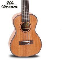 23 Inch Mini Electric guitar 18 Frets Ukulele Full Mahogany Box Guitar Four Strings small guitarra UC-84BEQ
