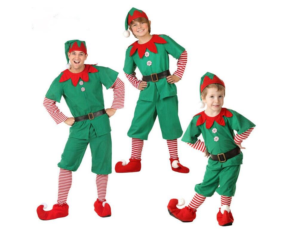 823d589229887 Costume De Sapin De Noël Enfants Adulte Famille Cosplay Spectacle De Scène Enfant  Cadeau Halloween Mascarade Parti Fantaisie Robe Garçons Filles