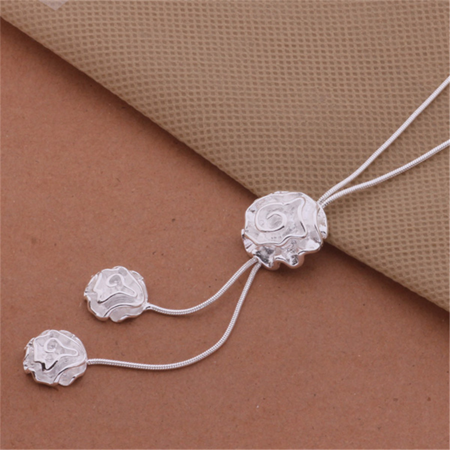 new factory sell well AN463 high quality silver plated necklace fashion beautiful women classic jewelry package mail