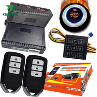 KUNFINE Smart Security Car Alarm Passive Keyless Entry Auto Central Lock Push Button Car Engine Start Stop Compatiable 1100BT