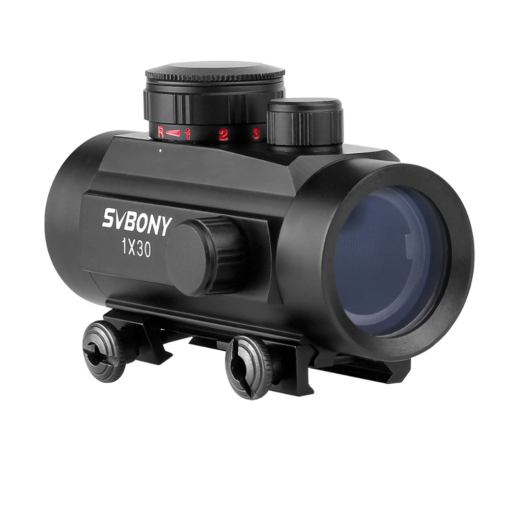Image 2 - Svbony 1x30mm Sight Tactical Red Green Dot Riflescope Five Brightness Setting Reflex Sight Scope w/ 20mm Rail Mount F9148A-in Riflescopes from Sports & Entertainment