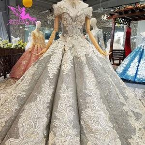 Image 5 - AIJINGYU koronkowe suknie ślubne luksusowe suknie Vintage dojrzałe amerykańskie akcesoria główna ulica prosty długi biały strój na ślub