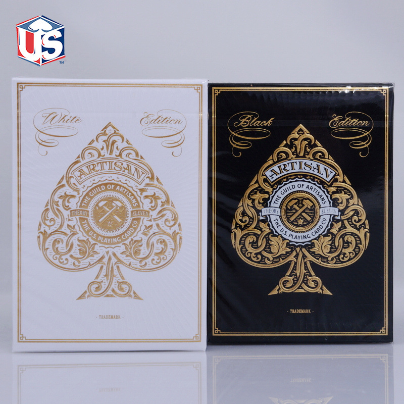 Artisan Theory 11 Playing Cards T11 White/Black USPCC Limited Edition Deck Poker Size New Sealed Magic Cards Magic Tricks Props
