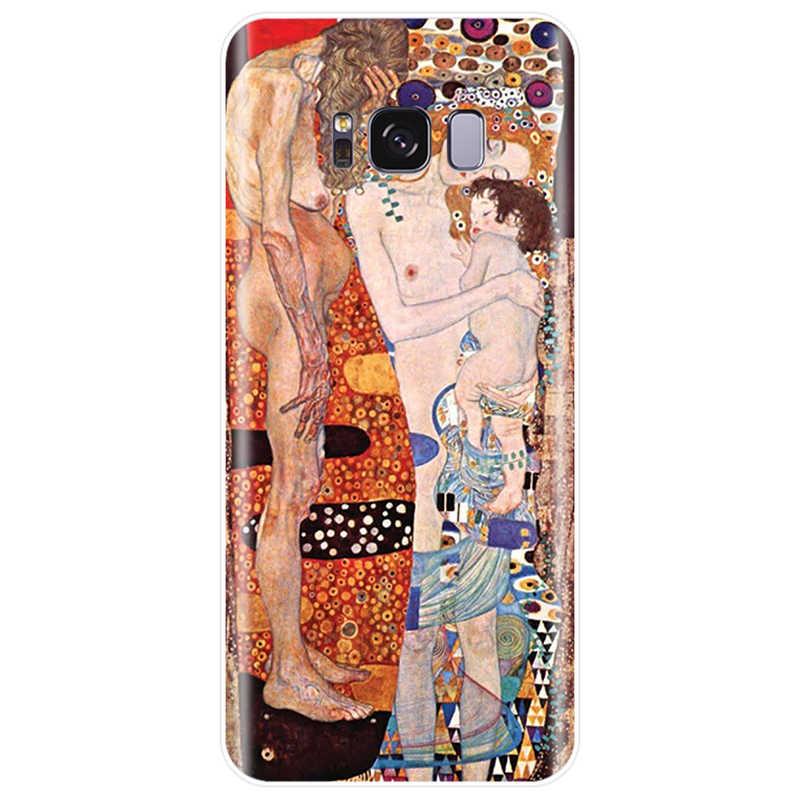 Kiss by Gustav Klimt funda dura de silicona suave TPU funda de teléfono para Samsung Galaxy NOTE 8 9 S6EDGE S6 S7 s8 S9 S10 S10PLUS S10E