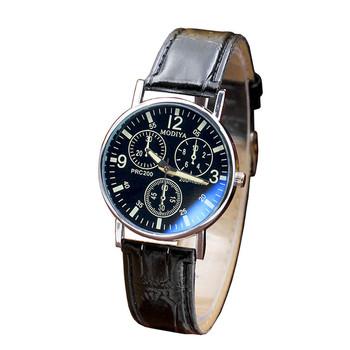GEMIXI moda i nowy Six PIN zegarki kwarcowy mężczyźni zegarek niebieski szkło pasek zegarek mężczyźni SEP 27 tanie i dobre opinie Fashion Casual Smart Stopu 24cm Klamra No waterproof Ukończ kalendarz 40mm Quartz Wristwatches Leatherette Szklane Skórzane