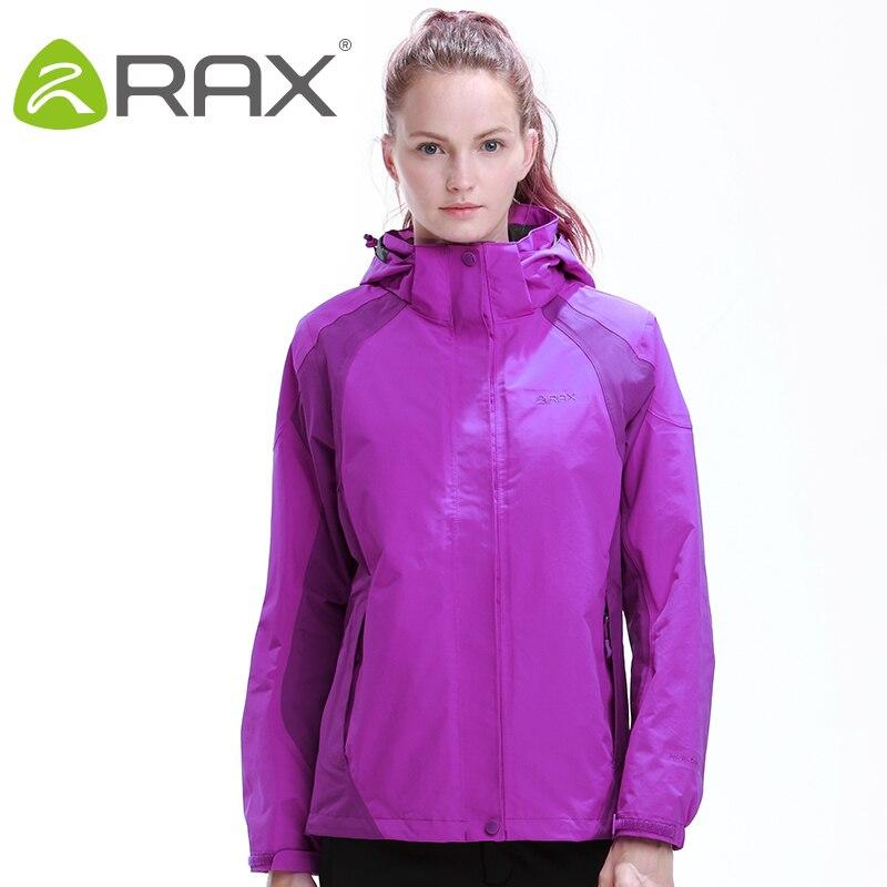 Rax vestes de randonnée femmes imperméable coupe-vent chaud randonnée vestes d'hiver en plein air Camping vestes femmes manteau thermique 44-1A032W