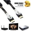 Versión Premium cable hdmi de alta velocidad de transmisión de tv box hdmi cable versión 2.0 de apoyo 4 K 3d CABLE HDMI para ps3 ps4 xbox