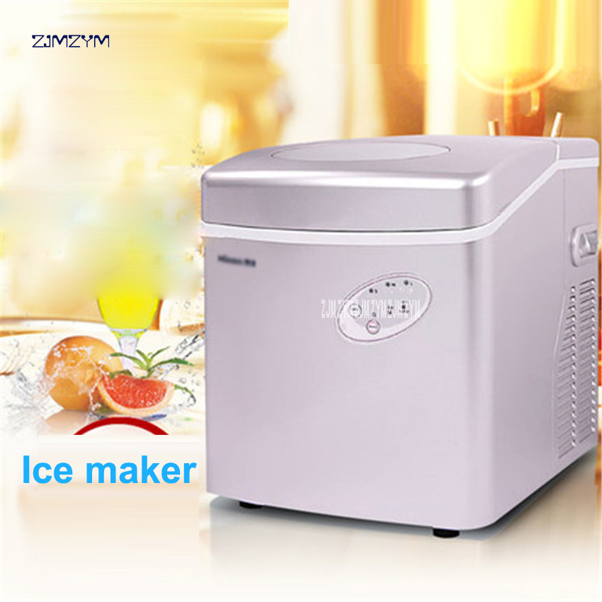 30kg/24h Ice Maker Household Portable Ice Making Machine 160W power Small Commercial Ice Maker Milk Tea Shop Ice Machine HZB-25A
