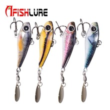 3D Print Lead Fish with Spoon Sequines 50mm 18g Fishing Jig Artificial Lead Fish Metal Plate Lure Bait