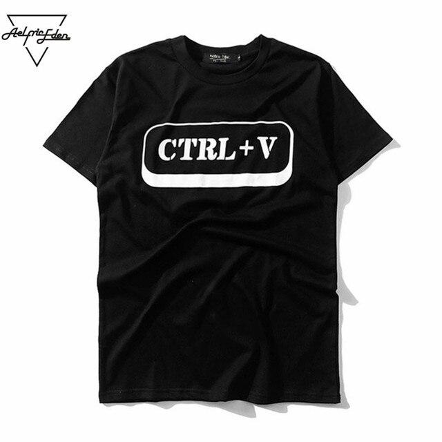 Aelfric Eden Tastiera CTRL + V Uomo Divertente T-Shirt Semplice Stampa  Tshirt idoneità Della 26d8711f3ebe