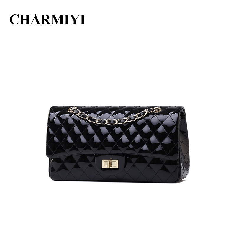 CHARMIYI High Quality Patent leather women Messenger bags famous brand Small Chain women crossbody shoulder bag ladies handbag famous brand high quality handbag simple fashion business shoulder bag ladies designers messenger bags women leather handbags