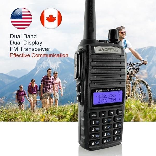 Baofeng uv82 frequenz bewegliche walkie-talkies für jagd 10 km leistungsstarke walkie talkies headset walkie talkies