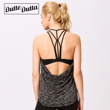Duttedutta Fitness Women Backless Yoga Shirt Top Running Women Gym Tank Top Breathable Sport T-Shirt Top Camisas Mujer