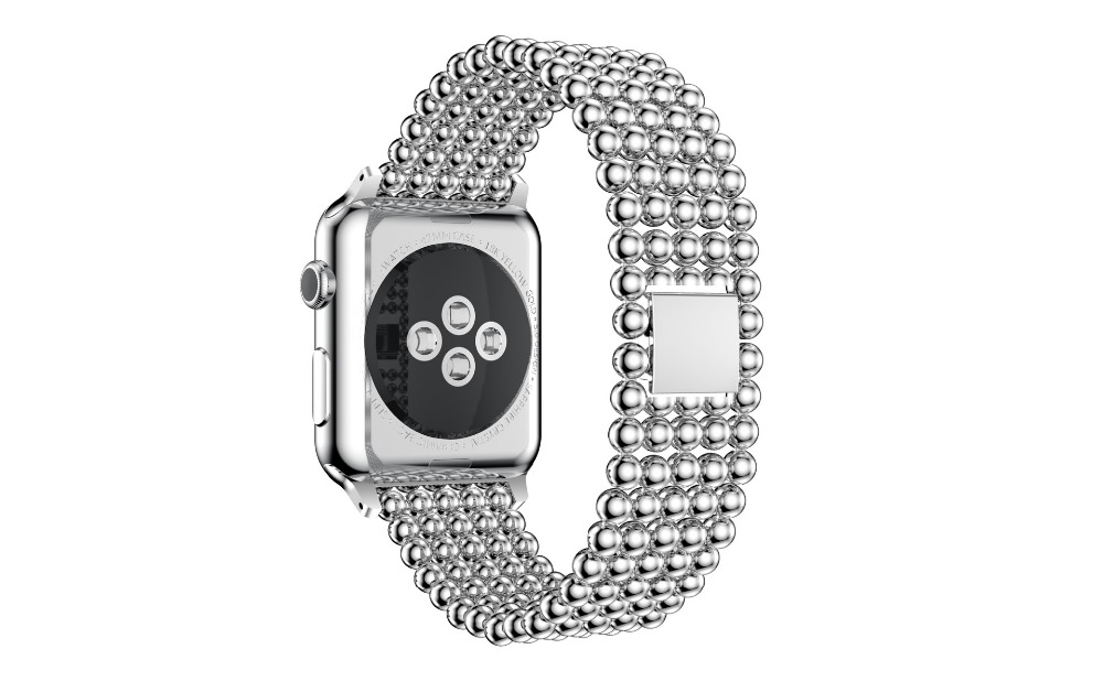 Fashion Apple Watch Band 38mm Stainless Steel Metal Watch Strap Replacement Bracelet for Apple iWatch Women Watch Accessories