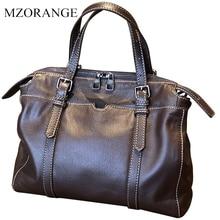 2019 Bag Female Women's Real Leather Handbags Messenger Bags Ladies Large Capacity Retro Tote Shoulder Top-Handle Bags For Women все цены