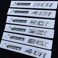 car sticker 1pcs 3D ABS Car Styling XDrive Logo Emblem X Drive 20i 25i 28i 30i 35i 40i 48i 50i For BMW X1 X3 X4 X5 X6 Door Sticker (1)