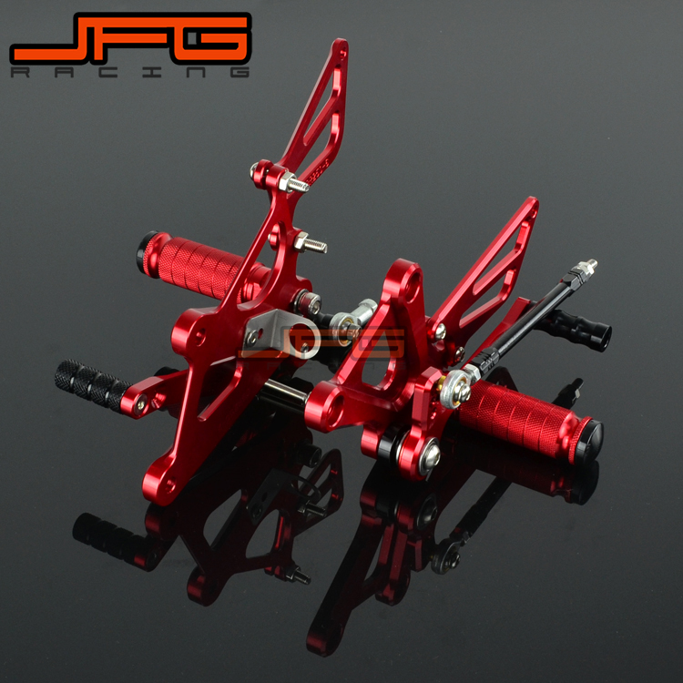 Motorcycle CNC Adjustable Foot Pegs Pedals Rest Rearset Footpegs For HONDA CBR250RR CBR 250 RR 2011 2012 2013 2014 2015 2pcs bicycle plastic wheel pedals axle foot pegs