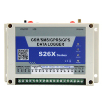 GSM GPRS Analog Data Logger Wireless Remote Controller 4 Analog Input 1 Digital Relay Output Temperature Alarm System S262