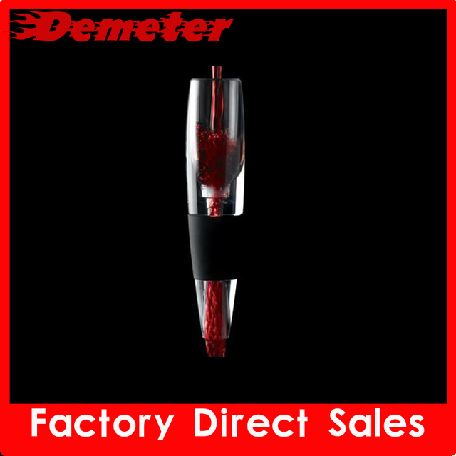 ZK mini-D510 wine decanter aerator device 10pcs/lot simple white package add wine flavor keep wine fresh wine accessories