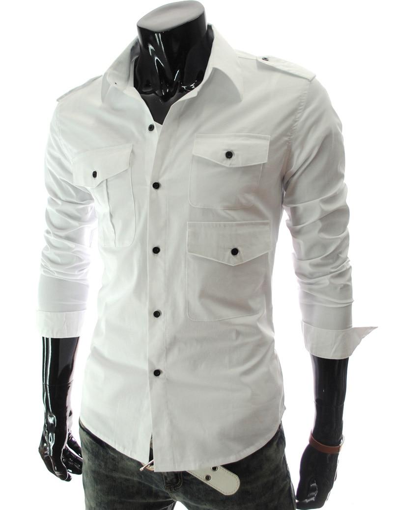 Shirt design images 2017 - Aliexpress Com Buy Brand 2017 Dress Shirts Mens Polka Dot Shirt Slim Fit Male Shirts Long Sleeve Men Shirt Slim Multi Pocket 5217 From Reliable Mens Polka
