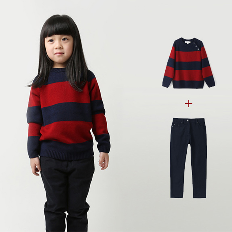 98d962773b boy girls pullovers wool 3 10 years brand pullover boy knitted stripe cool  sweaters for boys children boy blue red kids sweater-in Sweaters from  Mother ...