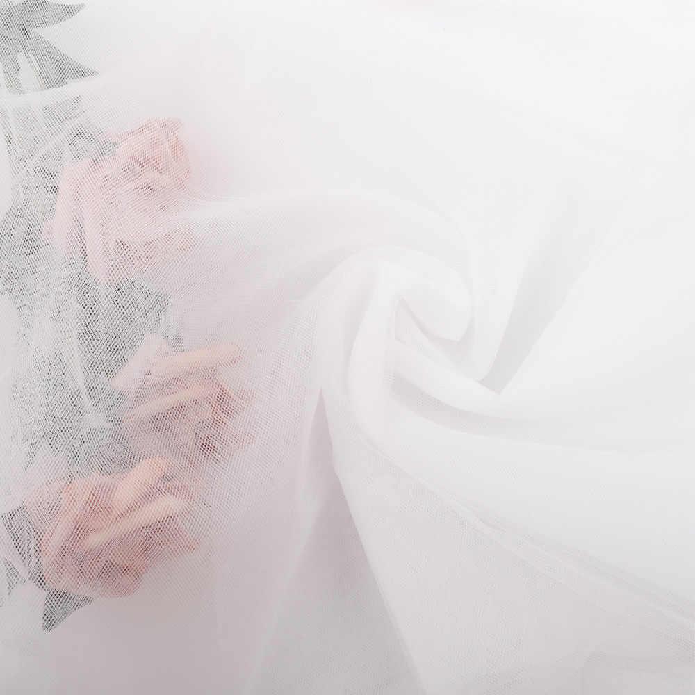 90*150 см Ткань Органза одноцветная пряжа из муслиновой ткани DIY одежда пачка платье свадебная отделка органзы пошивное ремесло ткань