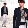 Moda Original envío gratis nuevos 2014 hombres de corea delgado denim de algodón fino traje traje de negocios chaqueta de traje casual XXL D2775