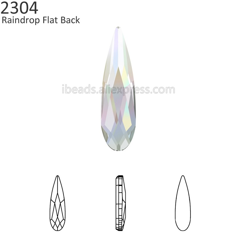 (2 Stück) 100% Original Kristalle Von Swarovski 2304 Regentropfen Flache Rückseite Keine Hotfix Strass Frauen Nail Art Kleidung Dekoration