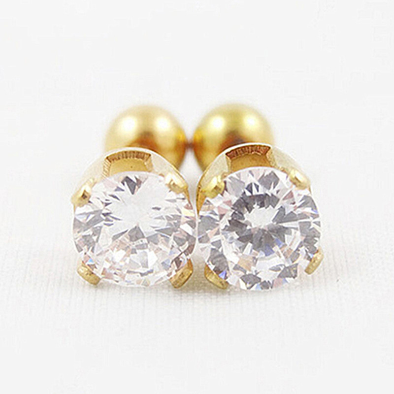8cc0619e6 Men Women Rhinestone Cartilage Tragus Bar Helix Upper Ear Earring Stud  Jewelry Brincos boucle d'oreille Ear Piercing Tool Kit