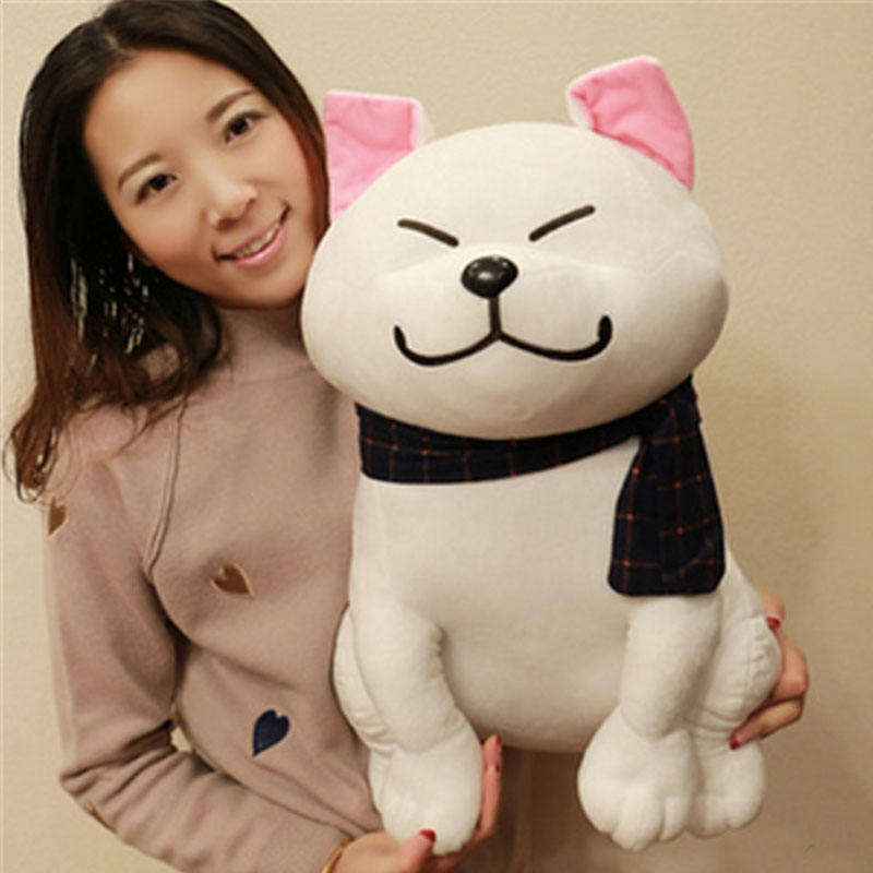 Fancytrader Cute Puppy Dog Toy Plush Stuffed Pop Anime Scarf Dog Doll 50cm Birthday Christmas Gifts cute poodle dog plush toy good quality stuffed animal puppy doll model soft doll kids gift baby toy christmas present