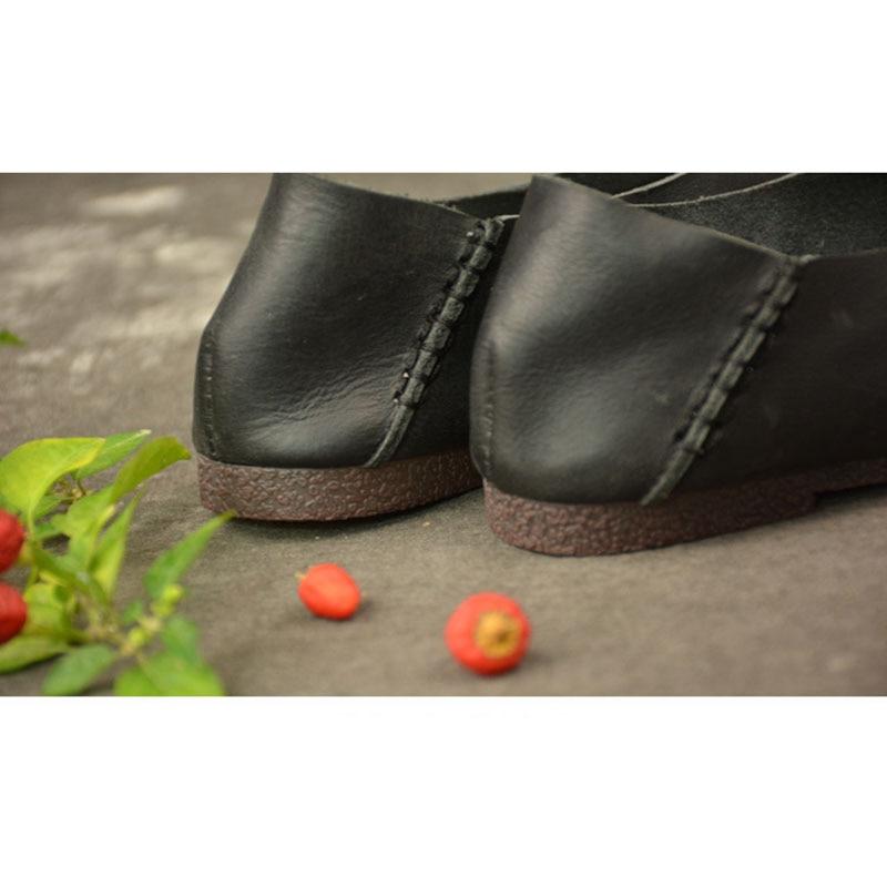 Casual Printemps Fond Mou Noir vieux Solide Couleur Chaussures Plat Vieux Confortable coffee À rqfSxwr