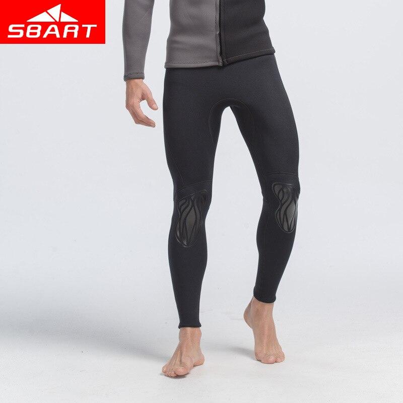 SBART Professionnel 3mm Combinaison Néoprène Hommes Plongée sous-marine Suit Rash Garde Pantalon Pantalon de Plongée Plage Maillots De Bain De Pêche Pantalon