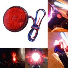1 Pair Round Brake Stop Light Side Lamp Car Truck Motorcycle Turn Signal Indicator 12V DC