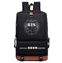 БЦ bangtan мальчики Цзиминь СУГА jhope нейлон Мода школьный рюкзак сумка