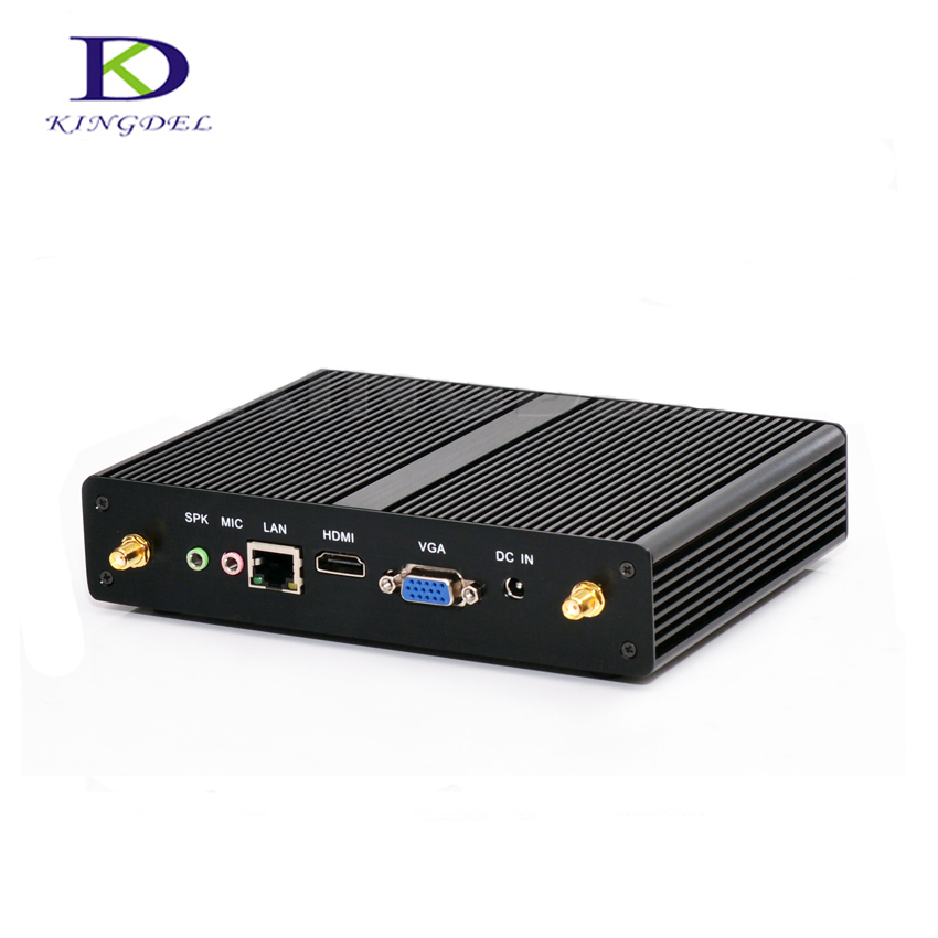 Fanless Micro PC Intel Celeron N2830 N2810 Dual Core Mini PC J1900 Quad Core HTPC Windows7/8/10 HDMI LAN VGA COM WiFi Plam PC kingdel business fanless mini pc cheapest n3150 mini computer intel core i3 4005u i3 5005u 4k htpc 300m wifi hdmi vga windows 10