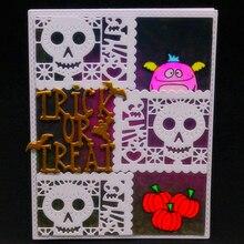 YLCD1508 Halloween Ghost Metal Cutting Dies For Scrapbooking Stencils DIY Album Cards Decoration Embossing Folder Die Cuts Tools