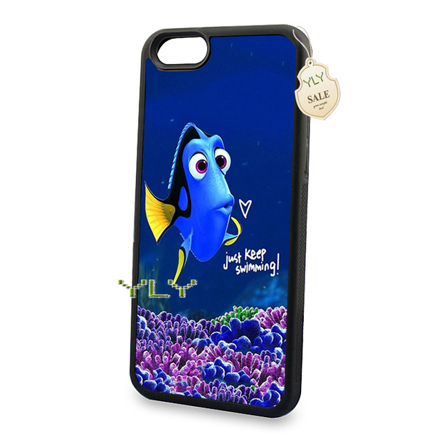 reputable site e7c9d d0fcd US $4.99  just keep swimming soft edge cell phone cases for iPhone 5c 5s 6  6s 6plus 6splus 7 7plus phone cover case on Aliexpress.com   Alibaba Group