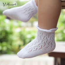 YOLFEERT Breathable Cotton Summer Style Baby Short Socks Newborn Anti Slip Boy Girl Infant Solid Color Children Socks