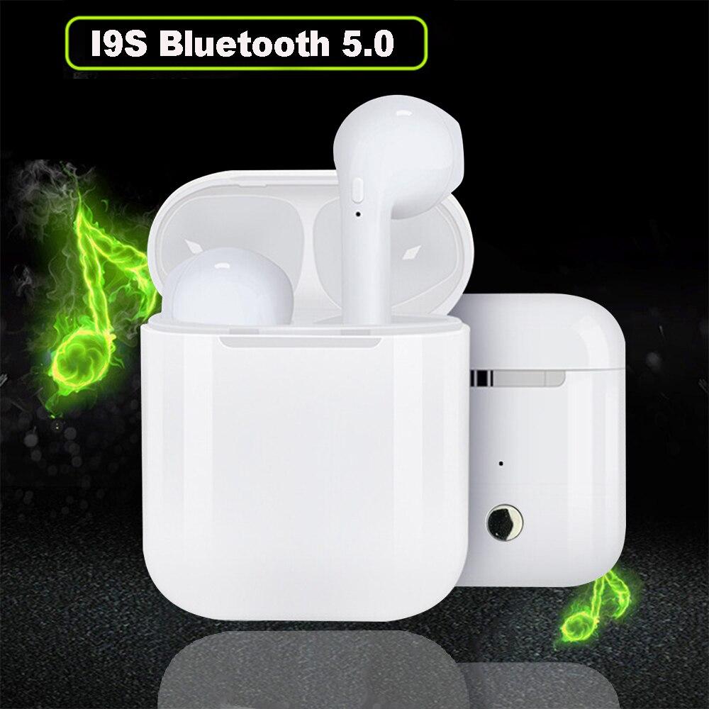 I9S TWS Fone De Ouvido Sem Fio fone de Ouvido fone de Ouvido Sem Fio Portátil 5.0 Bluetooth Invisível Fone de Ouvido Estéreo Fone de Ouvido Para Todos Telefone Inteligente