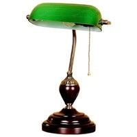 Античная Гостиная кабинет Ретро Винтаж Настольные лампы старомодное Стекло настольная лампа настольная исследование свет Спальня ночные